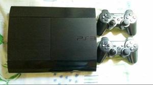 Playstation 3 super slim 250gb 2 controle sem fio e 3 jogos