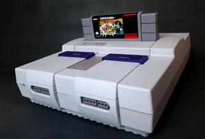 Super Nintendo revisado e funcionando 100% Muito Bonito!