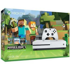 Xbox One S 500Gb Com Minecraft Novo na Caixa Lacrado