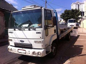 Guinhco - Ford Cargo 816. Plataforma para 3 carros.