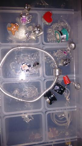 Pandora Ale 925 com Berloques pratas 925