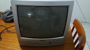 """TV cce 14"""" com controle remoto e entrada audio e vídeo"""