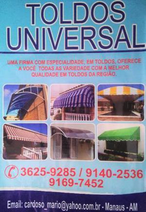 Toldos _ Toldos Universal - Aceitamos Cartões de Crédito!!