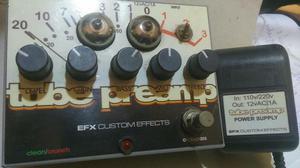 Pedal de Guitarra O Tube Preamp da EFX é um pré