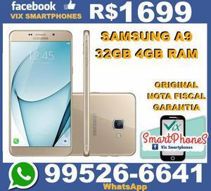 Samsung A9 _dourado_ 32GB 4gb de ram samsung_lacrado