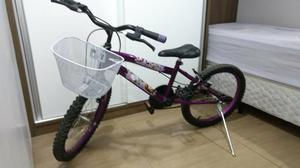 Bicicleta infantil feminina (7 a 11 anos) + suporte para