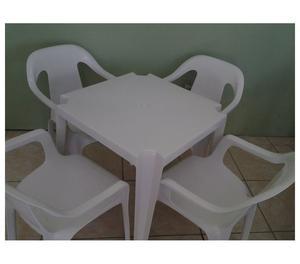 Cadeiras & Mesas, (1 MESA C 4 CADEIRAS P182KG COR PRETA)