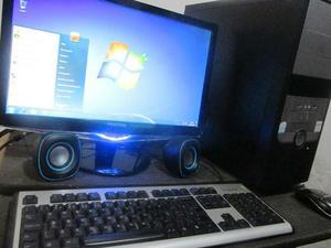 Computador completo dual core, 2gb memoria, monitor 18.5