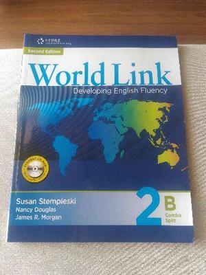 Livro de Inglês: Student Book World Link 2B Combo