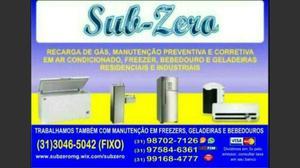 $140 Recarga de gás em Geladeira, Freezer, Bebedouro e Ar
