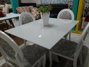Mega promoção de mesas em laca com 4 cadeiras a partir de
