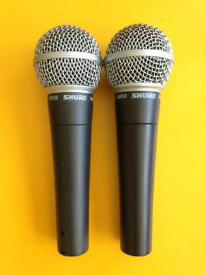 Microfone Shure SM 58 original (2 unidades)