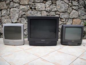 TVs Philips 14', Sony 21', Sanyo 14'