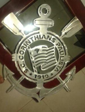 Logo / corinthians em aço inox escovado