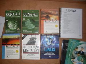 Lote com 6 livros + apostilas Certificação Linux, Nunca