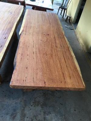 Mesas rústicas dois metros e meio pranchão angelin