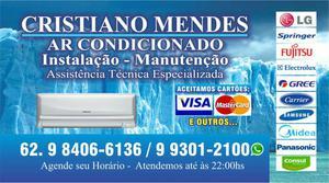 Ar condicionado instalação manutenção higienizacao e
