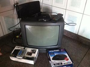 "Tv 14"" Mitsubishi + Conversor Digital + Antena"