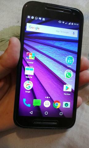 Moto G3 16GB dual chip com tv aceito trocar por iphone 5 5s
