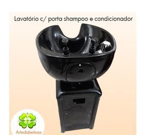 Lavatório com aplicador de shampoo e condicionador