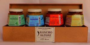 Pimentas Gourmet Rancho Alegre, artesanal -Kit com 4 vidros