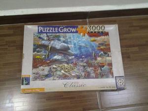 Quebra Cabeças Puzzle Grow  Peças Fundo do Mar