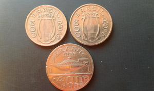 3 moedas reverso invertida
