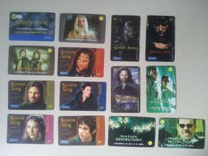 Cartões O Senhor dos Anéis e The Matrix