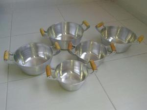 Conjunto 5 panelas aluminio fundido
