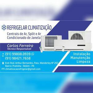 Instalação, manutenção e limpeza de centrais de ar split