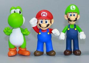 Kit 3 personagens Mário