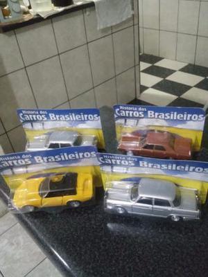 Lote De 04 Miniaturas Carros Brasileiros Escala 1:43