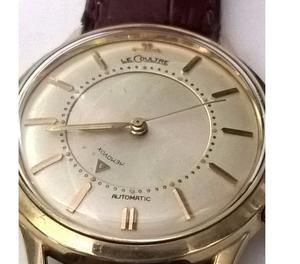 relógio marca Jaeger leocutre em aço e ouro automatico