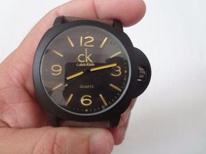 Relógio calvin klein preto fosco com pulseira marrom. novo, 165b21f11c