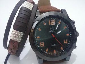Relógio Masculino CK com Pulseira de Couro