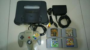 Nintendo 64 + 4 Jogos