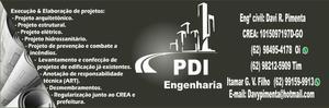 PDI Engenharia/ Projetos e Execuções/ Engenheiro Civil
