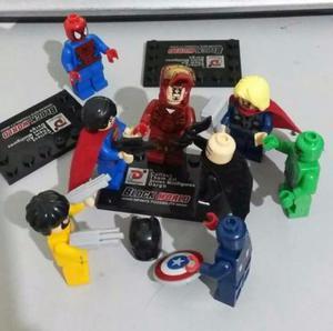 Bonecos Super heróis Estilo Lego