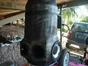 Carrinho de som e cooler para bebidas