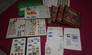 Coleção de selos nacional e internacional. Aceito ofertas