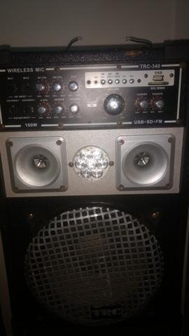 Caixa de som amplificada com entrada pendraive