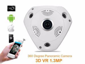 Câmera Ip VR Panorâmica 360 Lente Olho De Peixe Conexão