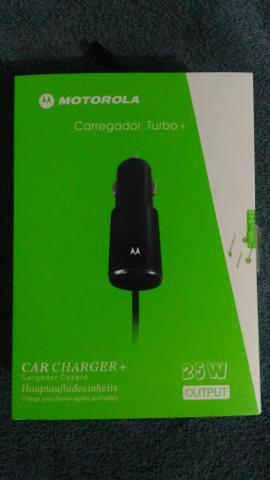 Carregador veicular turbo Motorola 25w