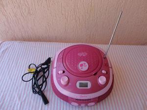 Lindo aparelho rádio am e fm e toca cd da barbie modelo