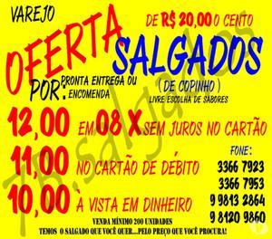 Salgados em até 08x sem juros Rio De Janeiro + 7B Salgados