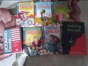 Livros e Material para estudar inglês - total de 7 itens