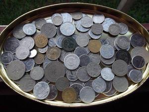 (03) lote com 100 moedas do brasil