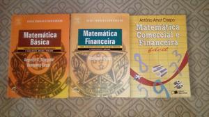 3 Livros de Matemática para concursos de 60 reais por