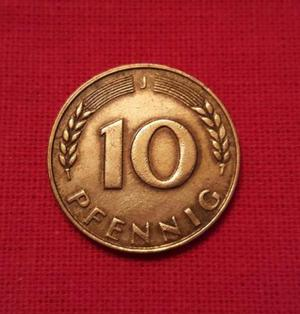 Moeda 10 Pfennig  - Alemanha