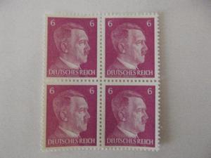 Raridade,Incrível Lote 4 selos,Alemanha,Hitler,Lindos